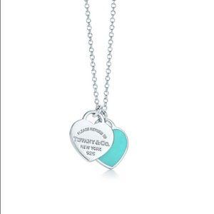 TIFFANY® Mini Double Heart Tag Pendant